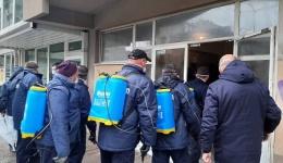 Тимови на ЕСМ им се приклучија на општинските јавни претпријатија за дезинфекција на Битола